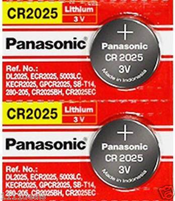 Panasonic Lithium 3v Watch/Electronic CR2025 2 Batteries,