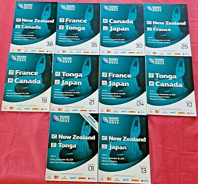 Pool A Rugby World Cup 2011 Programmes New Zealand France Tonga Japan Canada