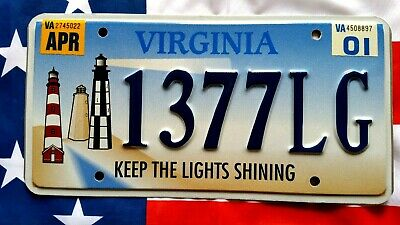 Plaque d'immatriculation Virginia 1377LG USA US License Plate