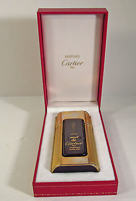 "Original 'must De Cartier"" Parfum Complete Spray Bottle In Original Leather Box"