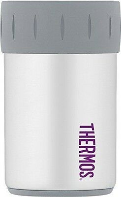 Thermos Vacuum Insulated Stainless Steel Beverage Can Insulator 12 Oz, White