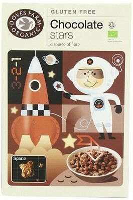 Doves Farm Organic Gluten Free Cereal Chocolate Stars 375g. Shipping is Free