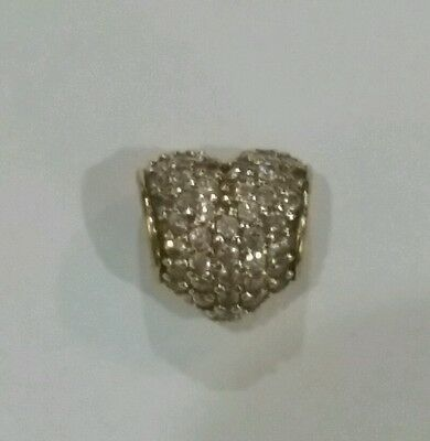 Pandora 14k solid yellow Gold Pave Heart Bead 750828CZ  *SPECIAL*