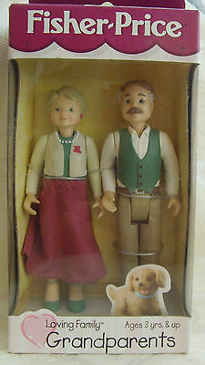 NIB ~ Fisher Price Loving Family GRANDPARENTS Caucasian circa 1999