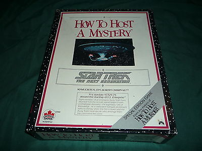 How to Host a Mystery- Star Trek The Next Generation- Never Used! COMPLETE!