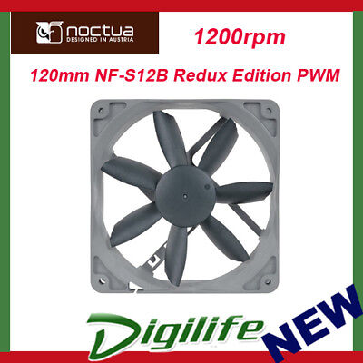 Noctua 120mm NF-S12B Redux Edition PWM Case Fan 1200rpm