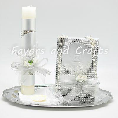 Angel Baptism Candle Set Boys Girl Set de Vela de Bautizo Favors Christening