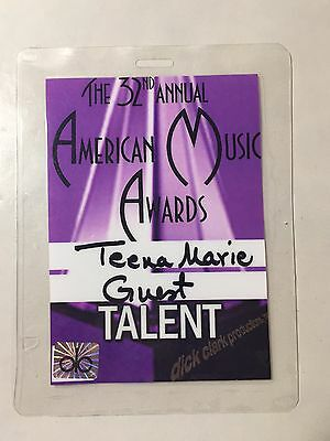 Teena Marie 2004 32nd American Music Awards TALENT Badge Backstage Pass Lady T
