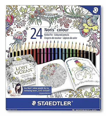 Johanna Basford Edition - STAEDTLER 185 C24JB Noris Colour Colouring 24 Pencils