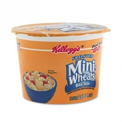 Breakfast Cereal, Frosted Mini Wheats, Single-Serve, 6/Box. Free Delivery