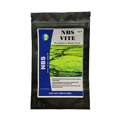 Blanket Weed Treatment NBS VITE 10g treats 2,500 Litres Remove Koi Pond Algae