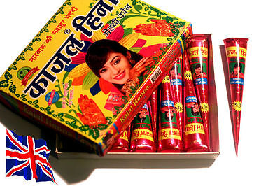 *SPECIAL OFFER* Buy 1 Get 1 Free! Henna Mehndi Tattoo cone Natural Red/Brown tq