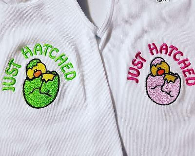 Embroidered baby singlet - Just Hatched