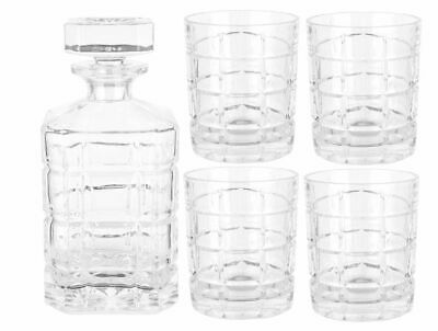 New Clear Glass Arc Whiskey Set 7 Piece Decanter Glasses