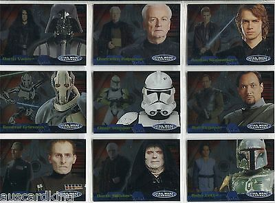 Star Wars - Evolution Update - Level 'A' - Complete Chase Card Set - 1A-20A - NM