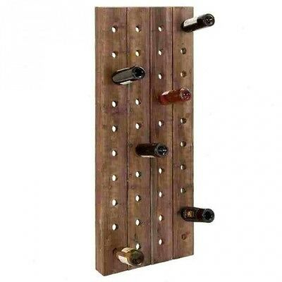 Woodland Imports 40 Bottle Wall Mounted Wine Rack. Free Delivery
