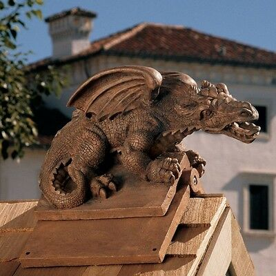 Design Toscano Apex The Winged Dragon Roof Cresting Statue. Brand New