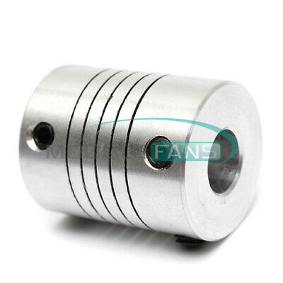 Durable 6.35mm To 8mm CNC Motor Jaw Shaft Coupler 6.35 x 8mm Flexible Coupling