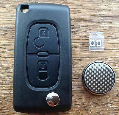 Peugeot 207 307 308 407 2 Button Remote Flip Key Fob FULL Repair Kit 2bwg
