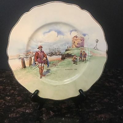 Royal Doulton Character Plate Titled Plymouth Hoe