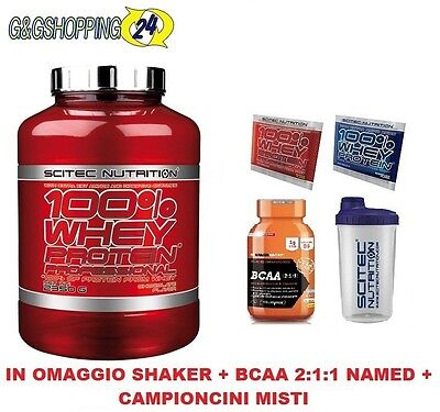 Scitec Nutrition 100% Whey Protein Professional 2350 GR Proteine Del Latte+ Bcaa