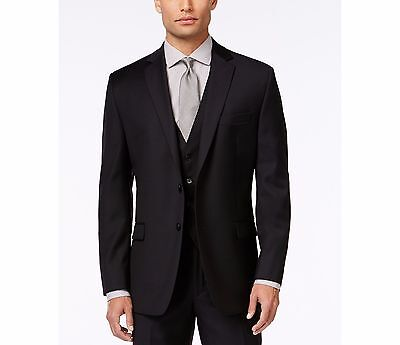 Calvin Klein Men's Solid Slim-Fit Jacket, Black, 42R