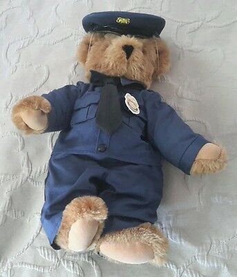 """16"""" TALL Articulated jointed Limbs VERMONT Teddy BEAR Police Officer Cop Plush"""