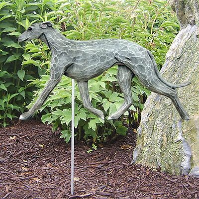 Greyhound Outdoor Garden Sign Hand Painted Figure Blue