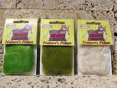 Wapsi Beaver Dubbing, Choice of Colours   Perfect for Dry Fly and Emerger Patter
