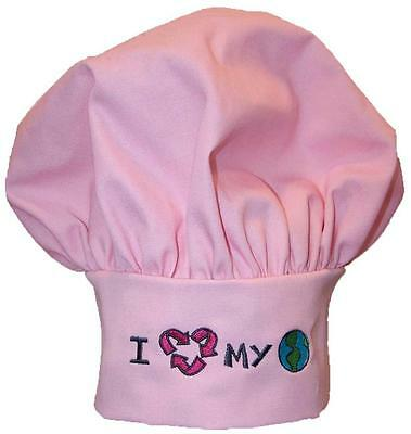 I Love My Planet Chef Hat Earth Day Recycling Sign Recycle Monogram Get Pink Now