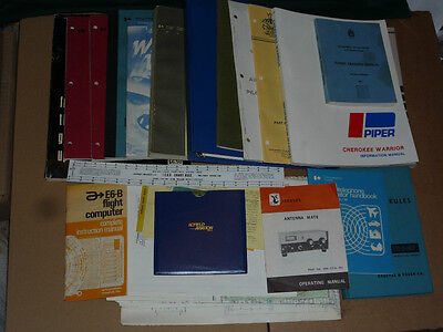 32pc Aviation Lot Can Booklets, Cherokee Manual, Ont Topigraphic Maps, Weather +
