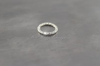 Nose Ring DIAMOND-Cut 16 ga 14k White Gold Hoop Cartilage SPARKLE Tragus Helix