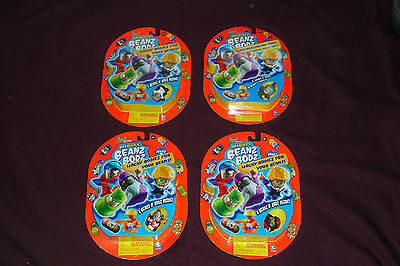Lot of 4 New Packages of Series 1 Moose Mighty Beanz & Bodz