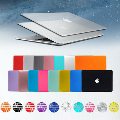 """Rubberized Hard Shell Case+ Keyboard Cover for Macbook Pro 13/15"""" 12"""" Air 11/13"""""""