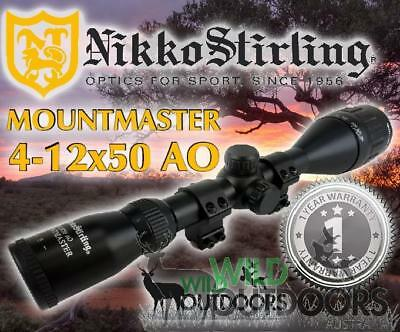 Nikko Stirling - Rifle Scope - MountMaster - 4-12x50mm - Air & Rimfire