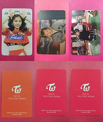 LOT OF 3 TWICE SANA Official Photocard The Story Begins 1st Album Full Set 사나