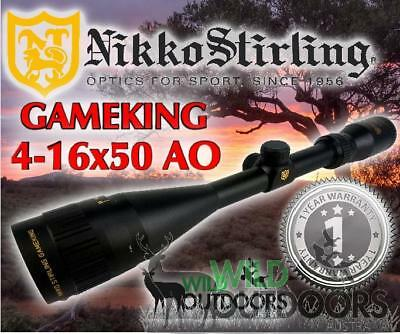 Nikko Stirling - Rifle Scope - Game King - 4-16x50AO - Half Mil Dot Reticle