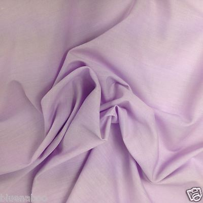 per metre LILAC plain polycotton sheeting  fabric 57 inches wide FREEPOST