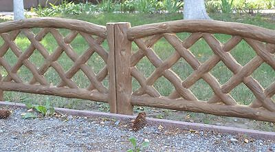 Old Wood Board Molds Plastic Mold Edge Stone Concrete  Fence #br10