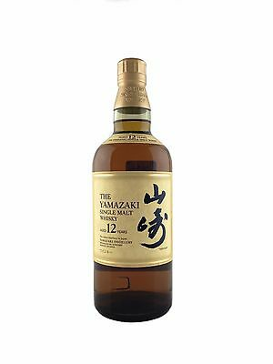 Suntory Yamazaki 12 Year Old Single Malt Whisky 43%700ml Japanese Version NO Box