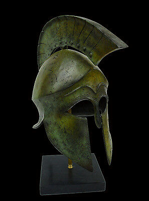 Helmet Solid Bronze Ancient Greek replica artifact