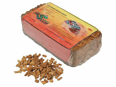 Coconut Husk Chips Reptile Terrarium Absorbent Substrate Pet Rat Rodent 500g