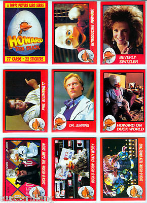 Howard The Duck - Trading Card Set (77) - 1986 TOPPS - NM