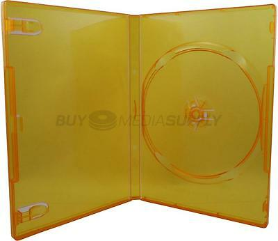 14mm Standard Clear Orange 1 Disc DVD Case - 20 Pack