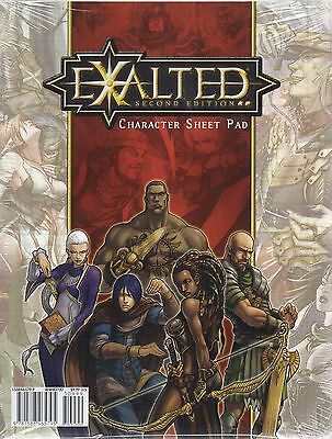 EXALTED-SECOND EDITION-Character Sheet Pad-RPG-Roleplaying Game-new-sealed