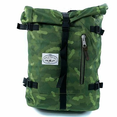 Poler Stuff Retro Rolltop Backpack Bag Green Camo New BNWT Free Delivery