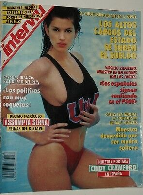 INTERVIU # 858 / CINDY CRAWFORD TRACI LORDS AD - 2 color pics from the 80's !!