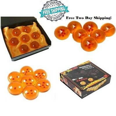 DragonBall Z Set 7pcs Stars Crystal DBZ Colletion Dragon Ball w/ Gift Box Toys