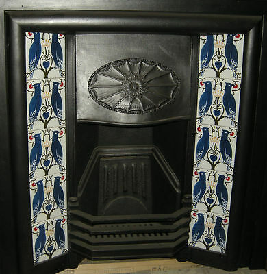 Art Nouveau / Arts & Crafts Voysey Love Birds Design Fireplace Tiles Set