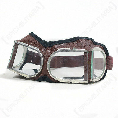 Original RUSSIAN WW2 MOTORBIKE GOGGLES Vintage Soviet Motorcycle Safety Glasses